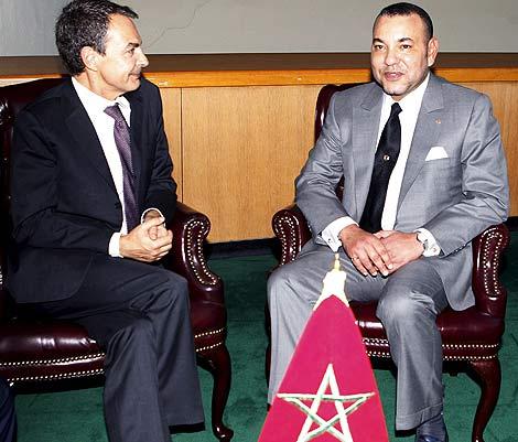 Presidente Rodríguez Zapatero con el rey de Marruecos Mohamed VI
